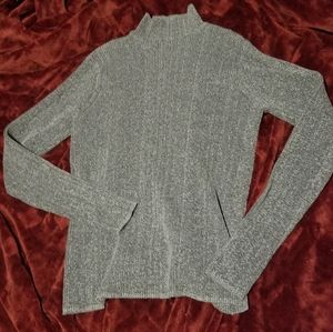 NWOT Suzy Shier Mock Neck Gray Long Sleeve